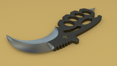 KBK (Karambit Brass Knuckles) View 2 by Shadow696