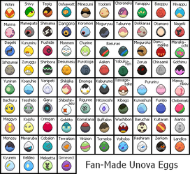 Fan-made UNOVA EGGS by zafara1222