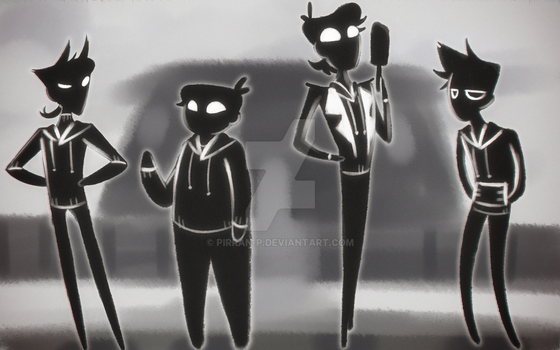 Eddsworld but in black and white by pirran-p