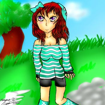 Anime Minecraft Girl by Da-Drawing-Cat-601
