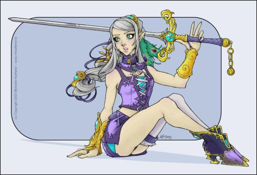 Iris Lineart Colored by elimsyxes