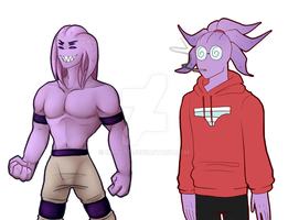 Undertale OC Octi- Before and After by putt125