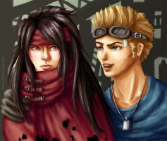 +FF7AC+ Vincent and Cid by GawainesAngel