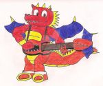 Flare the Dragon on Guitar by TheThunder-Art