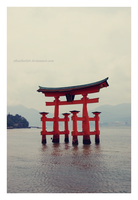 Itsukushima Shinto Shrine by rikachu426