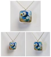 Piplup Pokemon Card Pendant
