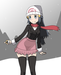 Pokemon - Platinum Alt. Winter Outfit, OG Colors by ScylesTheDespaired