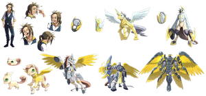 digimon / tamers pack 1 by Riza23