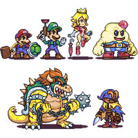 Super mario RPG characters by Omegachaino