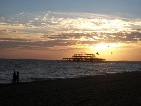 Sunset in Brighton 09.2010. by a-Soper