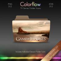 Colorflow TV Folder Icons: Game of Thrones by Crazyfool16