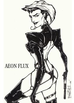 AEON FLUX by the-tracer