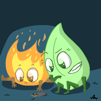 Leafy and Firey by CUB-ISMO