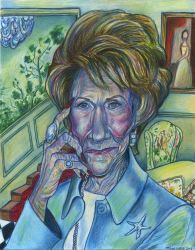Jeanne Cooper as Katherine Chancellor by Caricature80