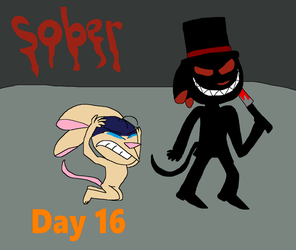 Rentober Day 16 Sober by IzaStarArtist17
