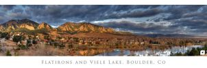 Flatirons and Viele Lake by imucus