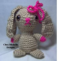 Nudist Bunny amigurumi softie by ChezMichelle