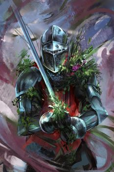 48/365 - overgrown knight by h1fey