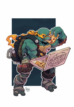 TMNT Michelangelo Animation by AlexRedfish