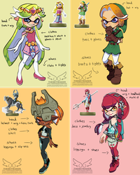 Amiibo Inkling Costume Concepts (9 11 2017) by theskywaker