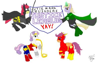 CMC Justice League Yay by AndroidAR