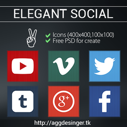Elegant Social Icons by iAbel14