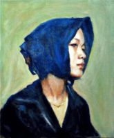 Chinese Woman with Scarf by JimmyDemello