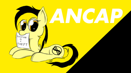 Wallpaper 1366x768 ancap pony by 789it789