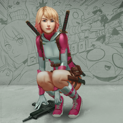 Gwenpool by porksiomai