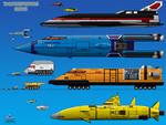 Thunderbirds 2086 Vehicles by haryopanji