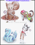 Traditional Chibi Commissions by careas