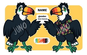 toucan character auction | closed by vintagecoyote