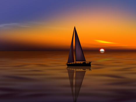 Sunset Boat by Prince-of-Powerpoint