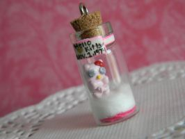 Hello Kitty Fetus In A Bottle by ThePetiteShop