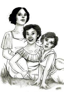 Julia, Sallie and Judy by quidwitch