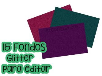 Pack de 15 fondos Glitters by ByConiEditions