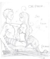 Zoro and Perona by BreizhyGlaw