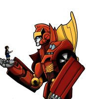 Emma and Rodimus Final by skydive1588