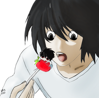 L Lawliet and Tiny BB  by Nothingness-VL