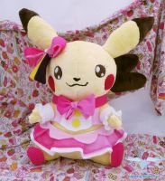 Pikachu Cosplay Plushie by dollphinwing