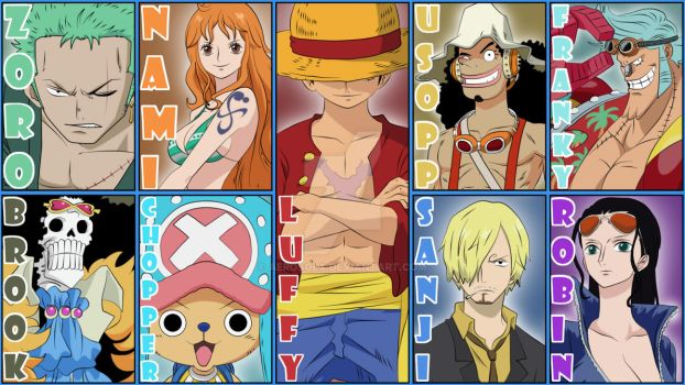 Wallpaper One Piece Crew by AerosolX