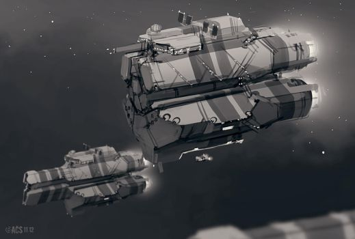 Troop Transport Ship by Shimmering-Sword