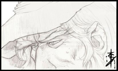Gandalf Sketch by arcais