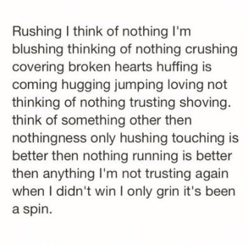 Rushing nothing by Thecoming2014