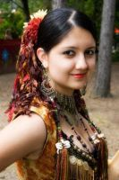 Tribal Gypsy Closeup by ladylucrezia