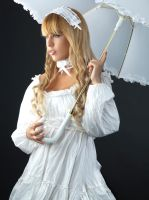 Tanit-Isis White Lolita Portrait by tanit-isis-stock