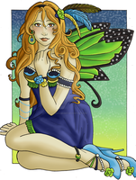 Butterfly Girl by Larissa-Bright