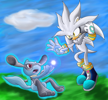 CM: Silver vs Isamu the riolu by shadowhatesomochao