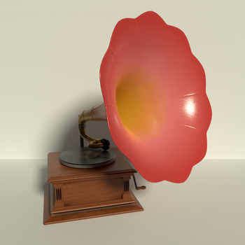 Phonograph in Rose and Yellow by kbmxpxfan