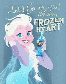 Elsa - Frozen Heart Soda by NickSwift